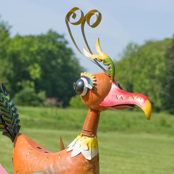 Metallwindlicht Fasan Skulptur - Candle Bird - Windlicht Fasan James - Gartendekoration - Objekt für Baumstamm