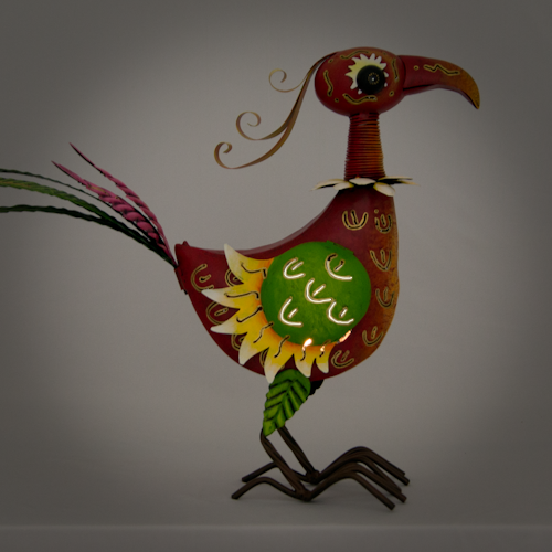 Metallwindlicht Fasan Skulptur - Candle Bird - Windlicht Fasan Lilly
