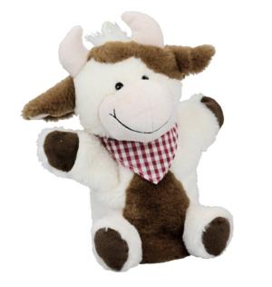 Handpuppe Kuh mit Füße - Kuscheltier Kug - Plüschtier - Schmusetier - Super Soft Plüsch