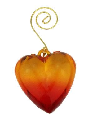 Herz Anhänger orange - Tannenbaumschmuck, Geschenkanhänger, Dekohänger