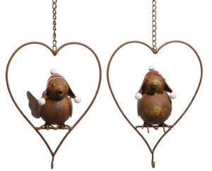 Herz Vogel Meisenknödelhalter - Vogelfutter Halter zum Aufhängen detail