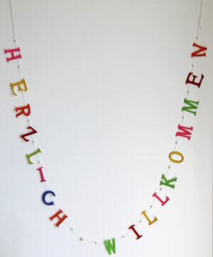 Herzlich Willkommen Girlande - Filzbuchstaben