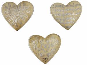 Holz Herz Magnet love