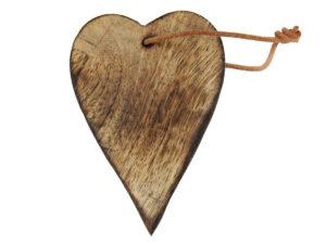 Holz Herz zum Hängen - Geschenkanhänger Herz