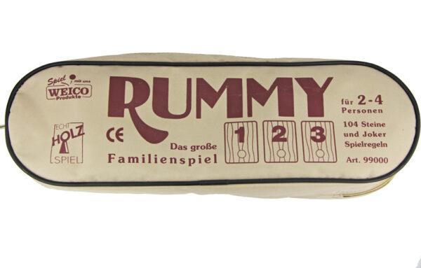 Holz Rummy Spiel - Rummikub in Reißverschlusstasche