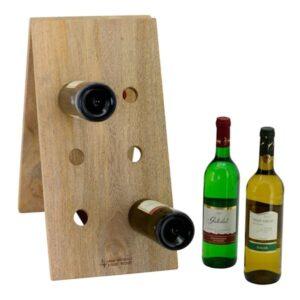 Holz Weinregal - Naturholz Flaschenständer für 12 Flaschen