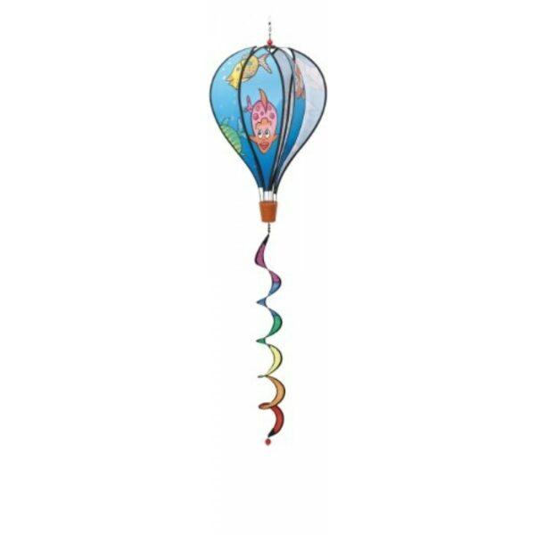 HQ Windspiel - Hot Air Balloon Twist Aquarium - Heißluftballon mit Spirale - Fische