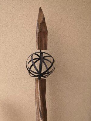 Eisen Kugel aus Blechstreifen Ø 25 cm Pflanzkugel - Metallkugel - Gartenkugel