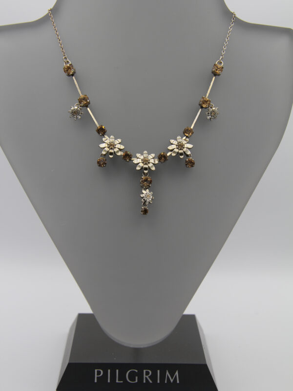 Pilgrim Kristall Blüten Kette silber :flowerOne BQ