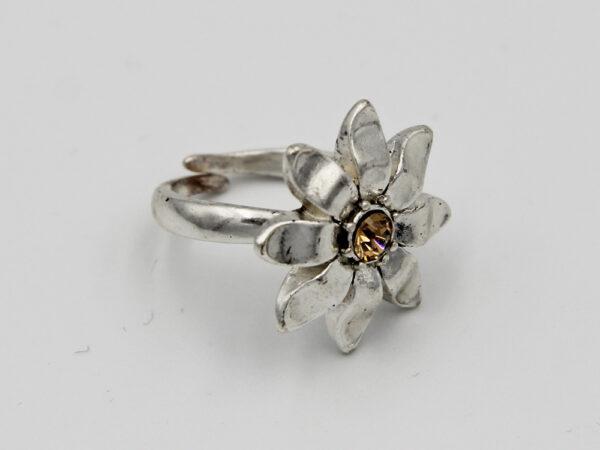 Pilgrim Kristall Blüten Ring silber :flowerOne - große Blüte