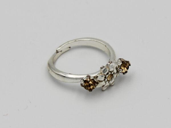 Pilgrim Kristall Blüten Ring silber :flowerOne - kleine Blüte