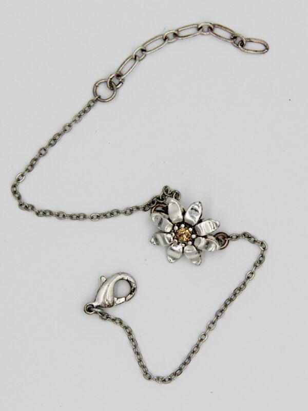 Pilgrim Kristall Blüten Armband silber :flowerOne