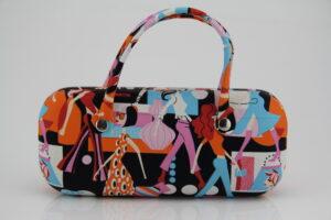 """Henkel-Brillenbox Brillenetui """"Pop Art""""- robustes Hard Case- Handtasche für die Sonnenbrille"""