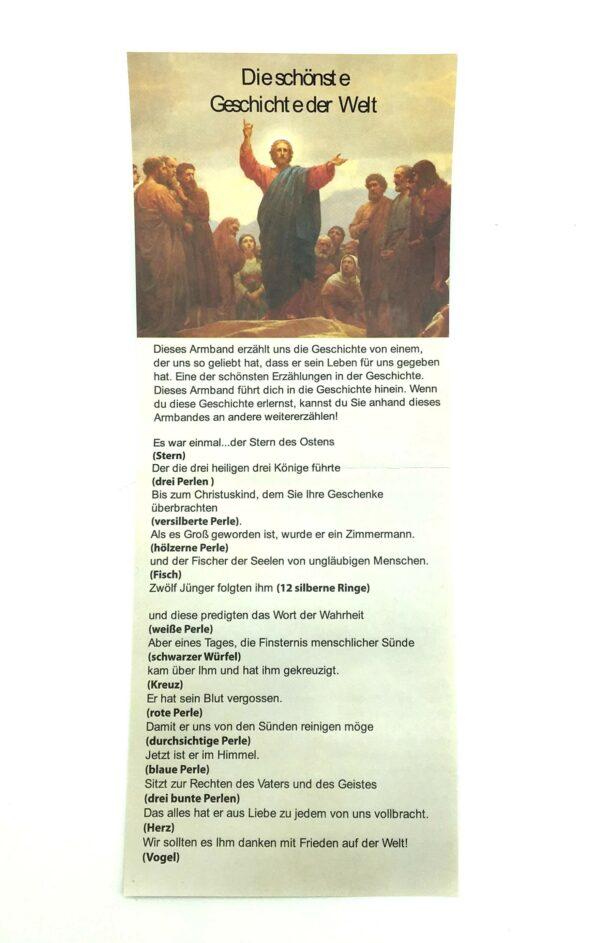 Credo-Armband Das Leben Jesu - Die schönste Geschichte der Welt- Bibelgeschichte als Schmuckstück