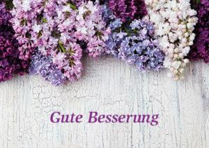 Doppelkarte Gute Besserung - Florale Faltkarte mit Trost und Hoffnung
