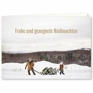 """Weihnachtskarte Doppelkarte """"Frohe und gesegnete Weihnachten"""""""