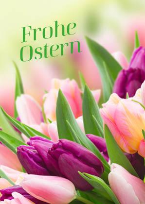 Faltkarte Frohe Ostern - Doppelkarte mit der hoffnungsvollen Osterbotschaft