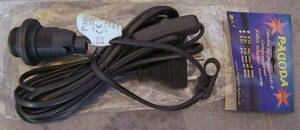 E14-Fassung Kabel schwarz mit Schalter, 4m - Zubehör für Papier Stern - Zubehör Sterne, Lampen