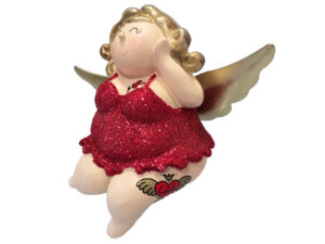 Kantenhocker tätowierte Engel Molly mit Tattoos in Modelpose Kult Engelsfigur Ballerina 2485A