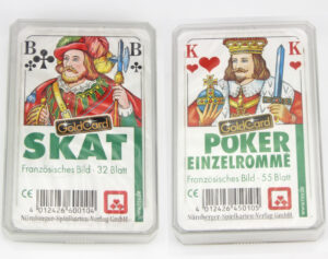 Kartendeck Poker oder Skat Karten