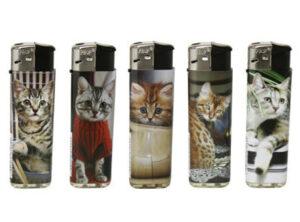 Katzen Feuerzeuge – Prof FIERY Gas Feuerzeug