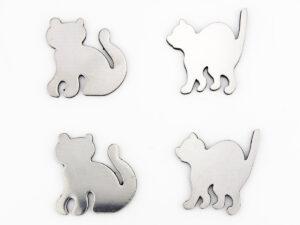 Katzen Magnete silber Katze Magnet