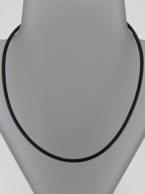 Kautschukkette mit Steckverschluss - schwarz 3 mm