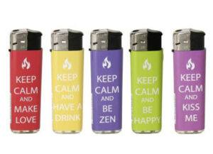 Keep Calm Feuerzeuge– Prof FIERY Gas Feuerzeug