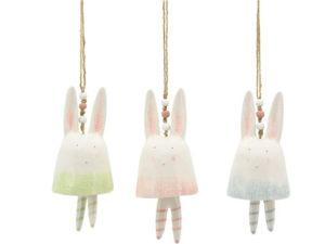 Keramik Hase zum Hängen - Hasenglocke Ivory 227724_s