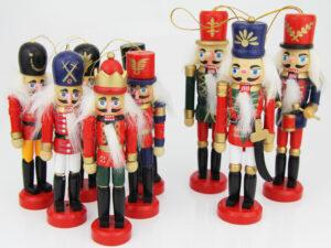 Kleine Nussknacker Figur - Weihnachtsbaumanhänger Nussknacker