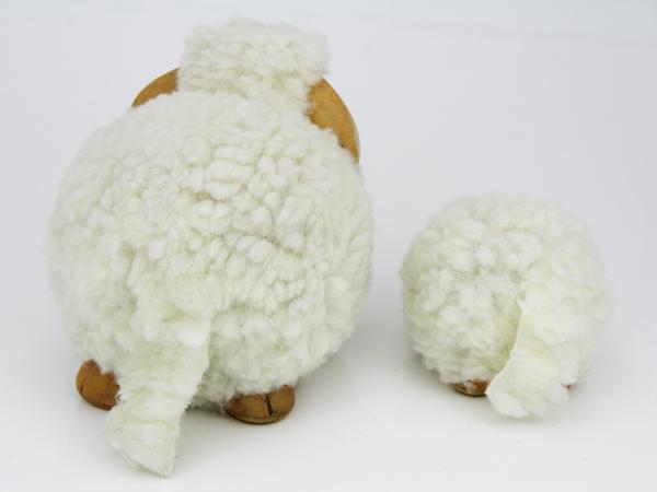 Kleine weiche Schaf Figur - Dekoschafe Rückseite