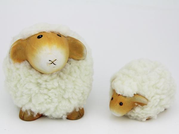 Kleine weiche Schaf Figur - Dekoschafe.