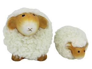Kleine weiche Schaf Figur - Dekoschafe