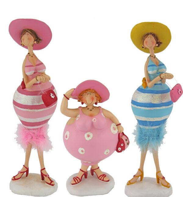 Kurvige Dame im Glitzer Kleid Figuren