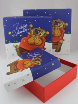 Kuschelige Weihnachten Geschenkbox - Set + verschiedene Größen
