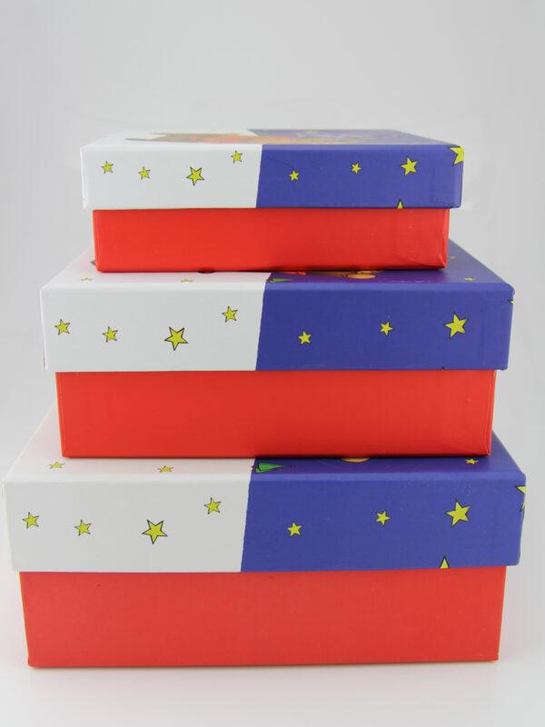 Kuschelige Weihnachten Geschenkbox - Set + verschiedene Größen Karton