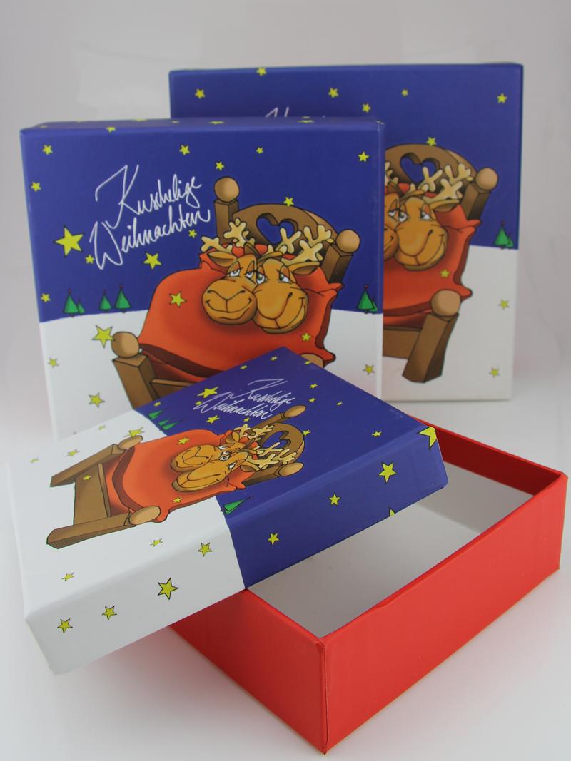 Geschenkbox Weihnachten.Kuschelige Weihnachten Geschenkbox Set Verschiedene Größen 13 17 Cm 3er Set