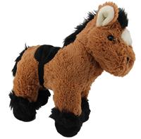 Kuscheltier Pferd braun schwarz - weiches Plüschpferd mit Sattel- Pony Kuscheltier