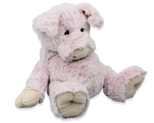Kuscheltier Schwein sitzend, rosa Schmusetier - Plüschtier - Super Soft Plüsch