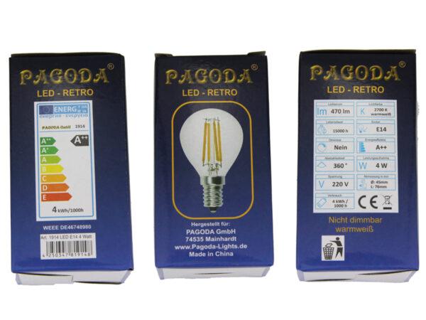 LED Birne 4 Watt E14 - für 60cm Leuchtsterne