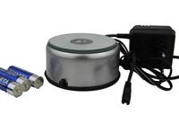 LED Drehsockel silber mit Farbwechseler - Steckdose Batteriebetrieb kl