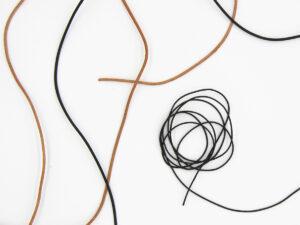 Lederband - schwarz oder hellbraun