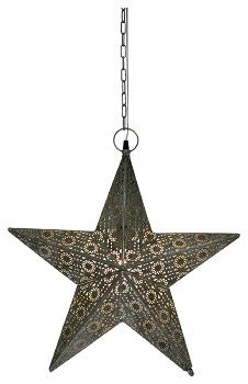 Leuchtstern aus Metall - Stern ArtFerro 53 cm mit 3 m Kabel und E14 Fassung