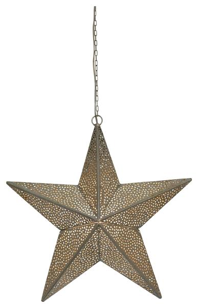 Metall Leuchtstern - Stern Marokko 44 cm mit 3 m Kabel und E14 Fassung