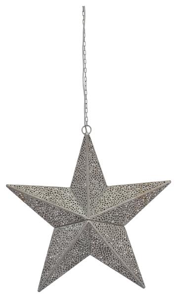 Leuchtstern aus Metall - Stern Marokko 44 cm mit 3 m Kabel und E14 Fassung aus
