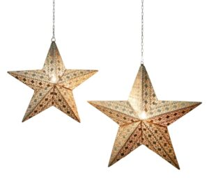 Leuchtstern aus Metall - Stern Orient 53 cm mit 3 m Kabel und E14 Fassung