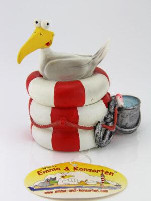 Möwe Aufbewahrungsbox - Hösti`s Emma und Konsorten - Aufbewahrungsdose für kleine Schätze