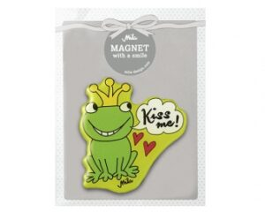 "Mila Magnet Frosch ""Kiss me"" - Froschkönig Magnet in Geschenkverpackung"