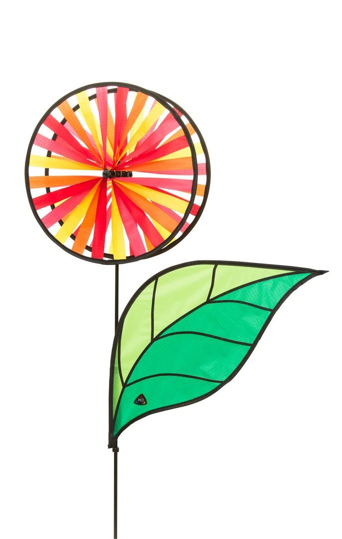 Windrad HQ Magic Wheel Triple Banner Rainbow Windspiel Garten Dekoration