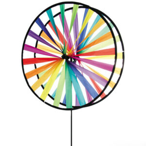 Magic Wheel Duett Rainbow - 35-63cm Regenbogen Windspiel-Windrad aus Segeltuch